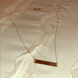 Jewelry - phi mu bar necklace